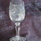 "Vtg crystal cordial glass, lovely pattern, 5"" hi, A++, perfectly elegant!!"