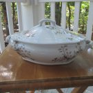 "Antique tureen/serving bowl, TC&F Booth, England, A++, ""Parisian Granite"" lovely"