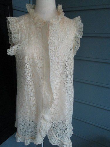 Sexy cream lace mini gown - Sz.L - excellent condition, for the right occasion!!