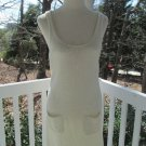 White knitted JUMPER/DRESS w/snowflake sparkle on back, scoop neck, pockets,cute