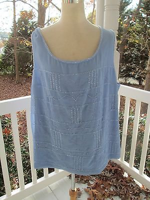 Sparkly periwinkle blue DRESS TOP  by NEBIANI, Sz 20W, NWT, party w/BLING & fun!