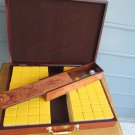 Beautiful NWOT MahJong set/wood inlaid box, 144 pieces, Chinese game -perfect!!