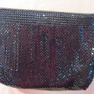 '60s vtg evening bag/purse/carryall, black beaded, elegant, metal strap, zips!