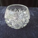 "Round heavy CRYSTAL BOWL/VASE, 6"" high, 4.5"" wide, beautiful shape and style!!"