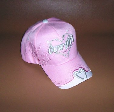 "Pink ""Cowgirl Babe"" Hat Embroidered Horseshoe Women Girls Baseball Cap New!"