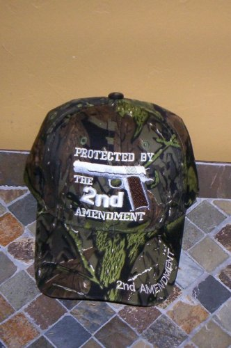 Protected By The 2ND Amendment Mens Camouflage Hat Embroidered Ball Cap New w/Tags