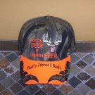 That's How I Roll! Shootin Deer & Drinkin Beer Mens Hat Camo Orange New!