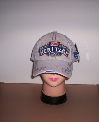 Distressed Khaki American Heritage Runs Deep in Our Blood Ball Cap New!