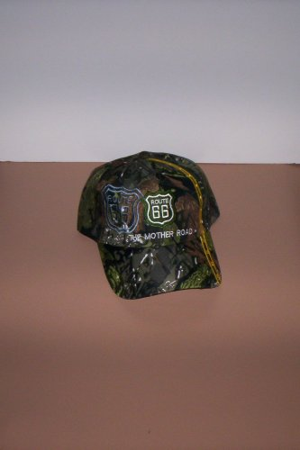 Camouflage Route 66 The Mother Road Mens Hat Ball Cap New!