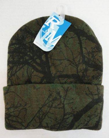Knitted Toboggan Hardwood Camouflage Camo Beanie Winter Hat Unisex New!
