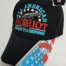 """All American Patriot"" Ready To Defend Mens Black Hat Ball Cap New!"