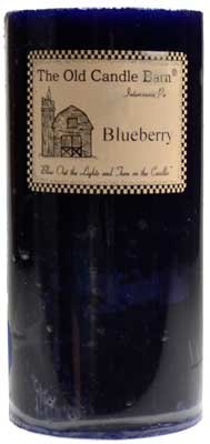 "3"" x 6"" Blue Blueberry pillar candle"