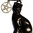 Black Cat & Pentagram amulet