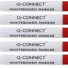 Whiteboard Markers set of 5 RED.
