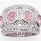 Pink Princess Hex Ring