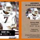 Kenny Hill 2014 ACEO Sports Football Card - Texas A&M TCU