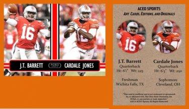 J.T. JT Barrett Cardale Jones Combo 2014 ACEO Sports Football Card Ohio State