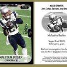 Malcolm Butler 2015 Super Bowl XLIX Commemorative ACEO RC Card New England Patriots