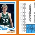 "Larry Bird ""What If"" 1980-81 Topps Style Reprint RP ACEO Card - Rookie RC 34"