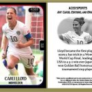 Carli Lloyd NEW! 2015 Commemorative Women's World Cup ACEO Soccer Card! - USA
