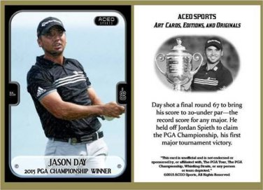 Jason Day 2015 PGA Championship Winner Commemorative ACEO Sports Golf Card NEW