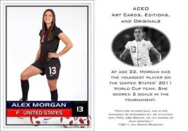 Alex Morgan - 2011 Women's World Cup Commemorative ACEO Sports Soccer Card! USA