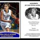 Elena Delle Donne 2013 ACEO Sports Pre RC Basketball Card Delaware Chicago Sky
