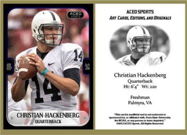 Christian Hackenberg 2013 ACEO Sports Football Card Penn State