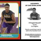 D'Angelo Russell NEW 1986-87 Fleer Style ACEO Card Rookie RC Los Angeles Lakers