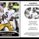 Everett Golson 2012 ACEO Sports Football Card Notre Dame Florida State FSU