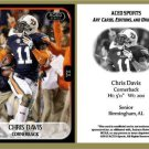 Chris Davis 2013 ACEO Sports Football Card Auburn Iron Bowl