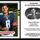 Marcus Mariota 2015 - 1989 Topps Style ACEO Rookie Card RC - Tennessee Titans }