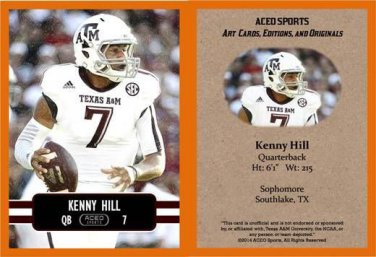 Kenny Hill 2014 ACEO Sports Football Card Texas A&M TCU
