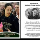 Brittney Griner 2013 ACEO Sports Pre RC Basketball Card Baylor Phoenix Mercury