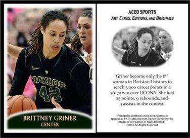 Brittney Griner 2013 ACEO Sports Pre RC Basketball Card Baylor Phoenix Mercury