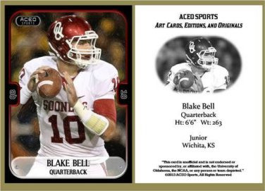 Blake Bell 2013 ACEO Sports Football Card Oklahoma
