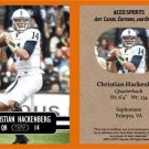 Christian Hackenberg 2014 ACEO Sports Football Card Penn State