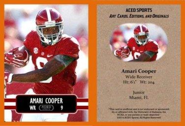 Amari Cooper 2014 ACEO Sports Football Pre RC Card Alabama Oakland Raiders