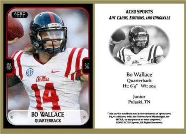 Bo Wallace 2013 ACEO Sports Football Card Ole Miss