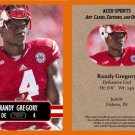Randy Gregory 2014 ACEO Sports Football Pre RC Card Nebraska Dallas Cowboys