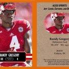 Randy Gregory 2014 ACEO Sports Football Pre RC Card Nebraska Dallas Cowboys
