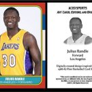 Julius Randle 2014 1986-87 Fleer Style ACEO Card Rookie RC Los Angeles Lakers