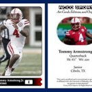 Tommy Armstrong Jr. NEW 2015 ACEO Sports Football Card Nebraska Cornhuskers - QB