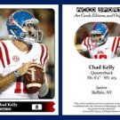 Chad Kelly NEW! 2015 ACEO Sports Football Card Ole Miss Rebels QB
