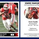 Nick Chubb NEW! 2015 ACEO Sports Football Card Georgia Bulldogs RB