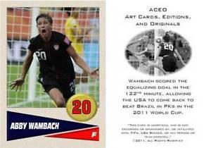 Abby Wambach 2011 Women's World Cup USA Soccer ACEO Sports Card