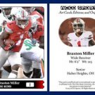 Braxton Miller NEW! 2015 ACEO Sports Football Card Ohio State Buckeyes WR