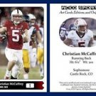 Christian McCaffrey NEW! 2015 ACEO Sports Football Card - Stanford Cardinal RB