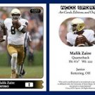 Malik Zaire NEW! 2015 ACEO Sports Football Card - Notre Dame Fighting Irish QB