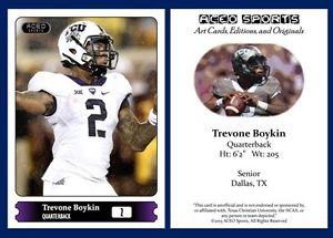 Trevone Boykin NEW! 2015 ACEO Sports Football Card TCU Horned Frogs - QB